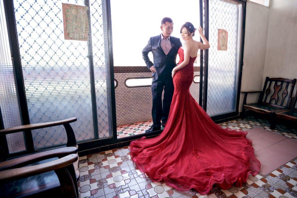 新娘與父親合照