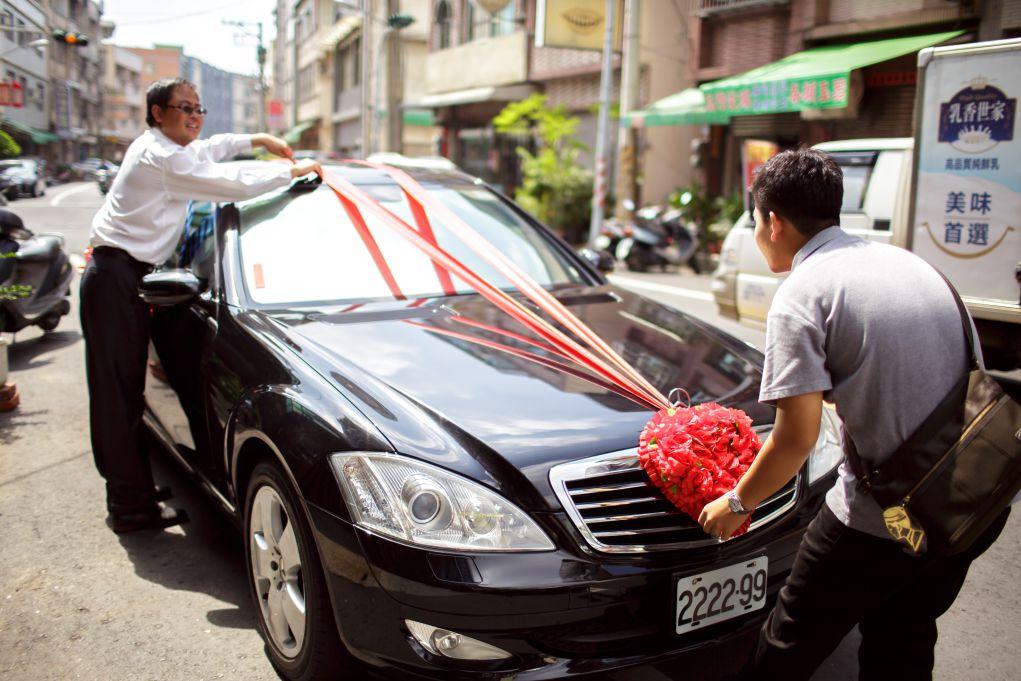 結婚流程綁車綵