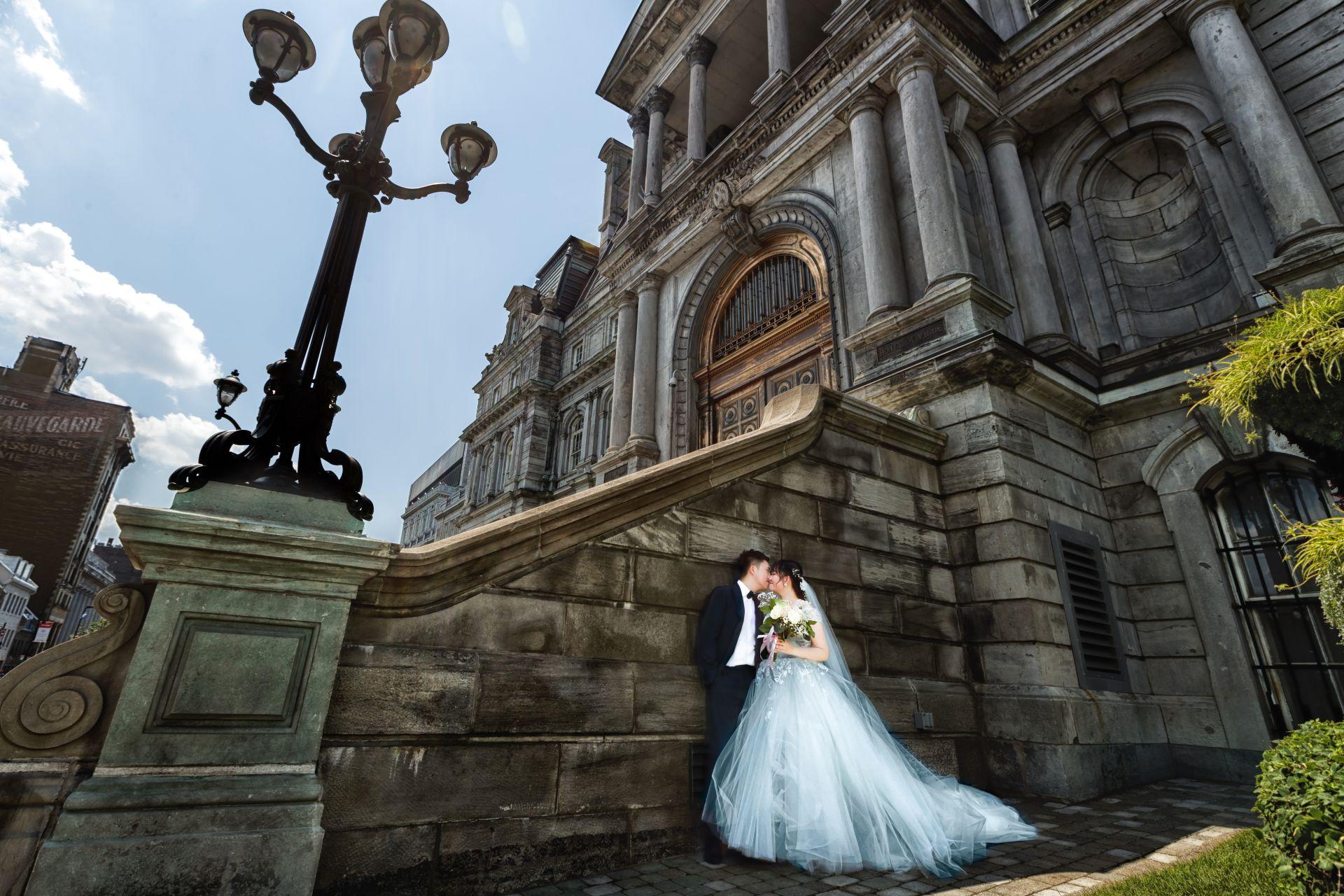 油畫風格婚紗照