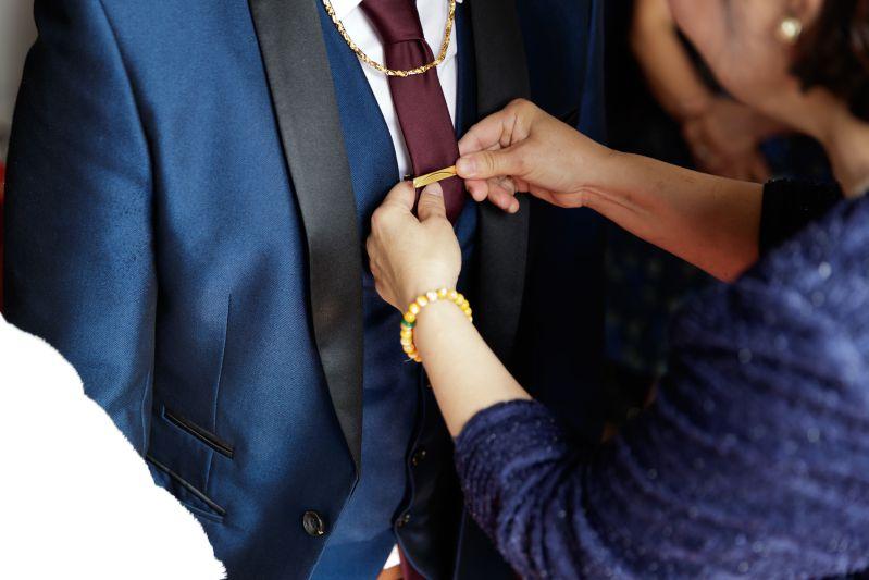訂婚儀式領帶夾
