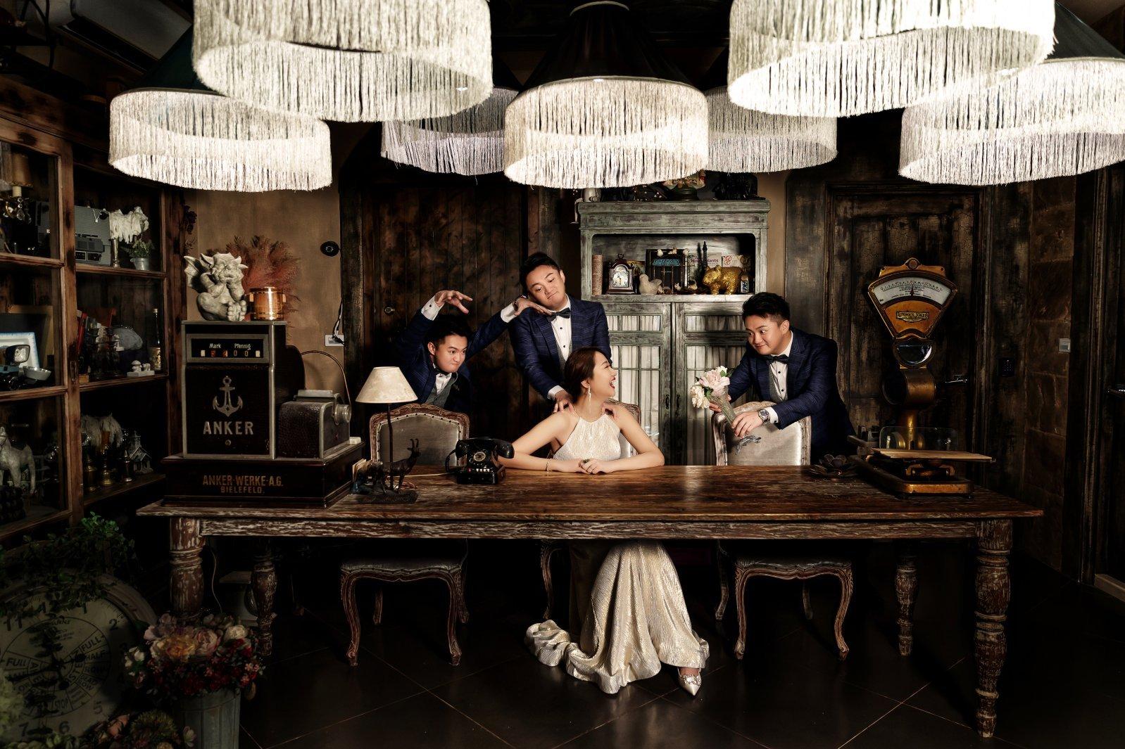 影分身婚紗照,分身婚紗照,趣味婚紗照,高雄婚紗工作室