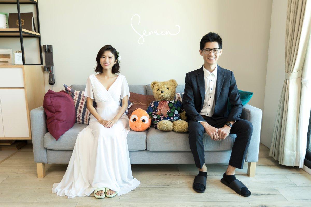 阿吉 & Nina 自然,居家生活感婚紗照